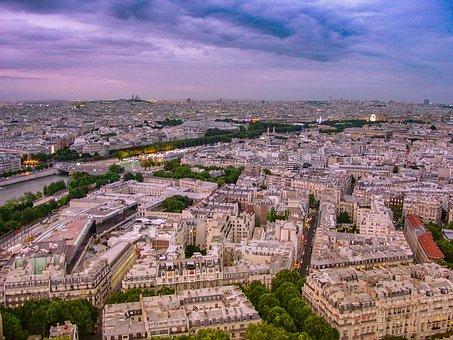 Paris, View, Eiffel, Tower, City, French, Cityscape
