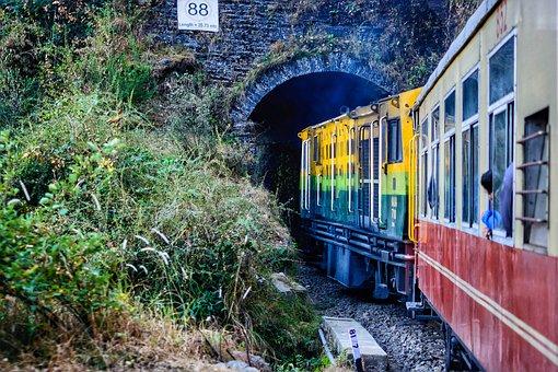 Shimla, Railway, Train, Train Ride, Tunnel, Himalayas