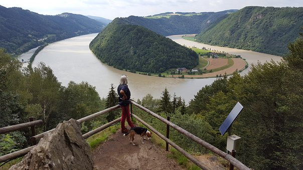 Danube Loop, Danube, Upper Austria, View, Hiking, More