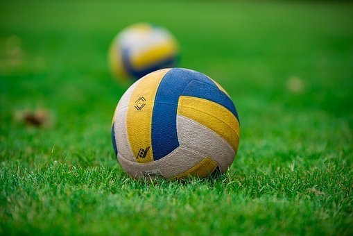 Volleyball, Ball, Sport, Grass, Play, Equipment