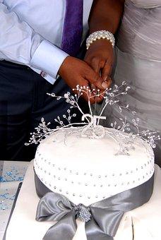 Cutting, Cake, Celebration, Love, Marriage, Wedding