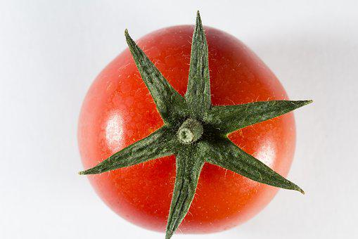 Tomato, Cherry, Round, Star, Sepals, Vegetable, Sweet
