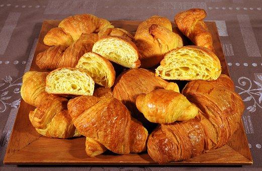 Croissants, Baked, Tablecloth