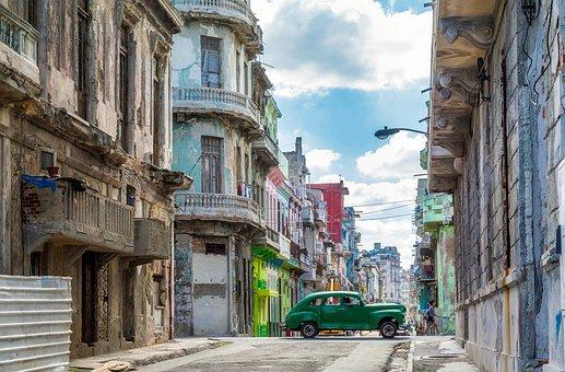 Havana, Cuba, City, Urban, Buildings, Car, Auto, Old
