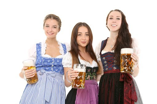 Girl, Beer, Celebrate, Bavaria, Dirndl, Folklore, Woman