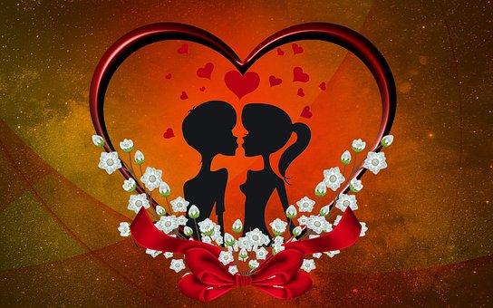 Love, Valentine, In Love, Heart, Embellishment