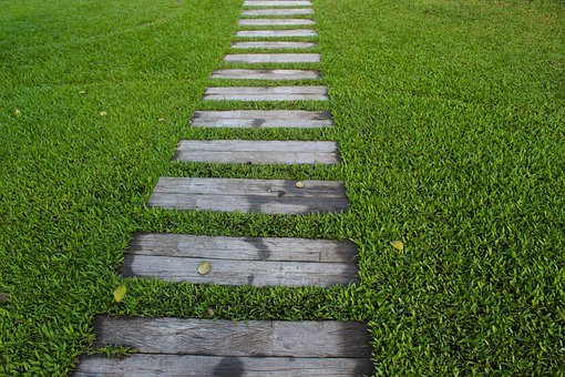 Garden Path, Steps, Garden, Path, Nature, Green