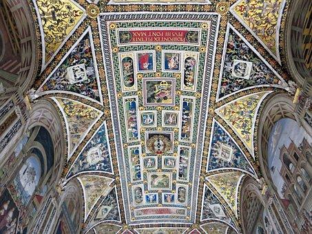 Italy, Hers, Libreria, Silvio Piccolomini, Ceiling
