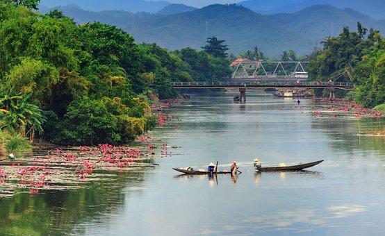Huong River, Hue, Vienam
