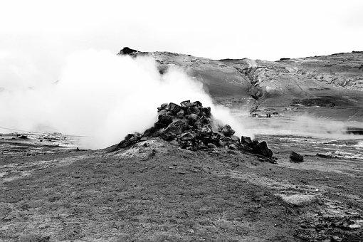 Sulfur Source, Iceland, Highlands, Highland Island