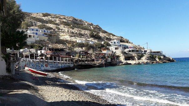 Matala, Holiday, Greece, Crete, Island, Mediterranean