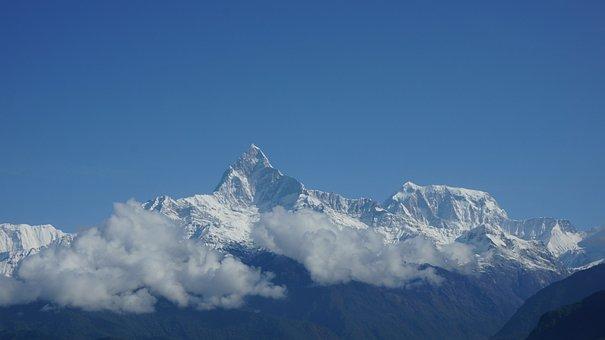 Mountain, Annapurna, Sky, Nepal, Landscape, Travel