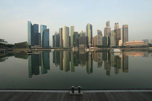 Cbd, Centralbusinessdistrict, Singapore, Lake, Marina