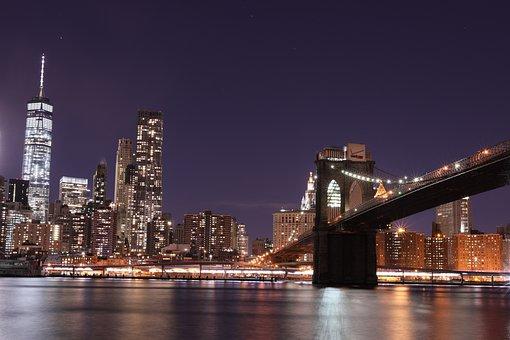 Skyline, Manhattan, Newyork, Nyc, Cityscape, Landscape