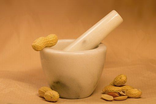 Peanuts, Pestle, Peanut Butter, Dried Fruit, Food