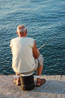 Fisherman, Port, Pier, Sea, Water, Fishing, Harbor, Bay