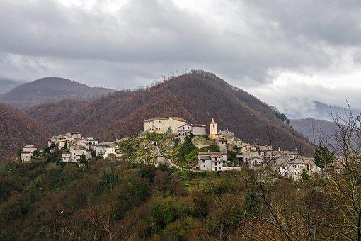 Posticciola, Rock Sinibalda, Italy, Lazio, Rieti
