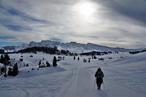 Alp Siusi, Seiseralm, Snow, Mountain, Cold, Winter