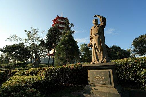 Chinese Garden, Asia, Singapore, Lake, Travel, Sky