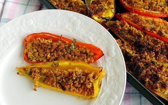 Peppers, Stuffed Peppers, Contour, Italian Cuisine