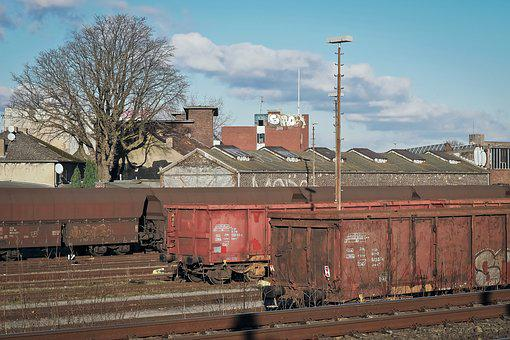 Freight Cars, Railway, Transport, Rail Traffic