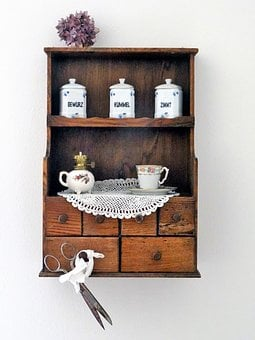 Vintage, Spice Cabinet, Antique, Farmhouse, Kitchen