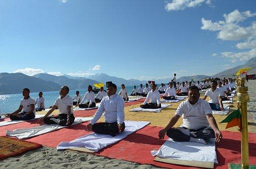 Yoga, Lake, Mountain, Fresh, Nature, Landscape, Water