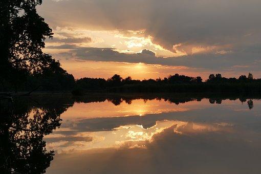 West, Mirror, Mirror Image, Line, Light, Shadows, Water