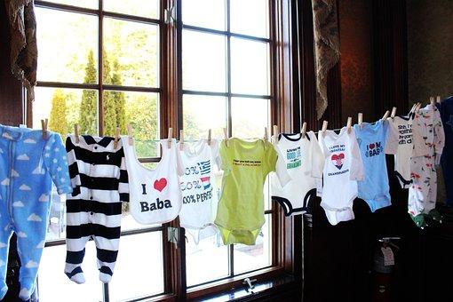 Baby Shower, Baby Boy, Clothes Line, Boy, Birth, Gift