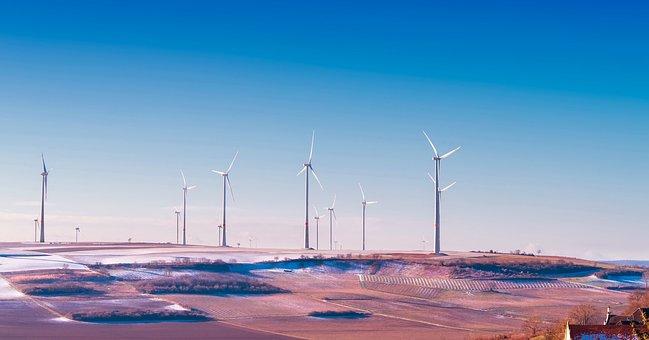 Germany, Wind Turbines, Energy, Sky, Clouds, Power