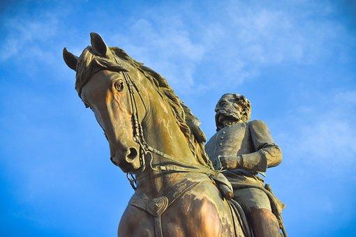 Wade Hampton, Statue, Columbia, Sc, Horse, Bronze