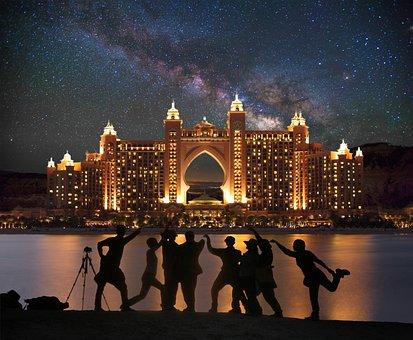 Dubai, Palm, Shopping Centre, Composition, Creative