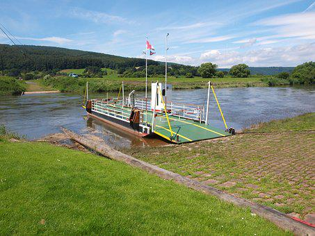 Weser, Cycle Path, Greed Rope, Ferry