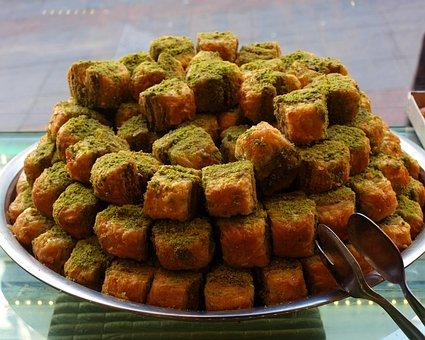 Baklava, Window, Sweet, Pistachios, Turkey, Delicious