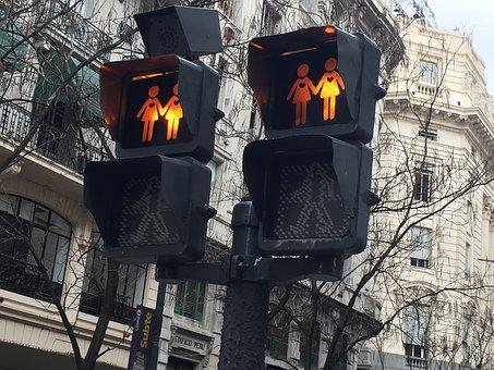Gay, Traffic Light, Lesbian, Homosexual, Celebration