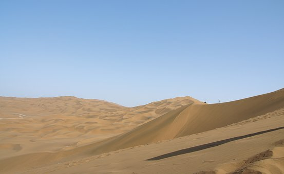 China, In Xinjiang, The Scenery, Desert, Sand, Dune
