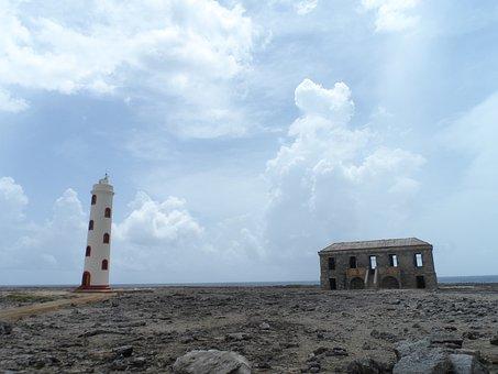 Lighthouse, Bonaire, Abandoned House, Island, Coast