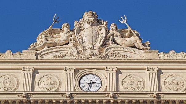 Marseille, Chamber Of Commerce, Statue, Neptune