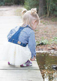 Child Discovery, Child On Bridge, Bridge, Outdoors