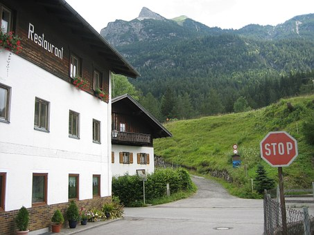Restaurant, Alpine, House