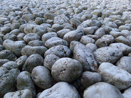 Stones, Grey, Pavement, Rough, Soil, Covered, Random