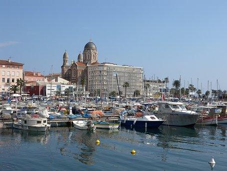 Saint-raphaël, Port, Mediterranean