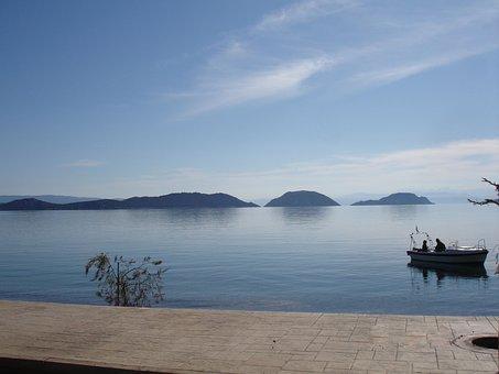 Sea, Boat, Boeotia