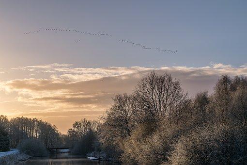 Landscape, Sunrise, Skies, Nature, Sky, Morgenstimmung