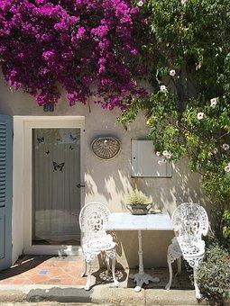 Outside, Garden, Table, Door, Outdoors, Summer, Nature