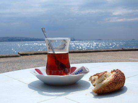 Turkey, Tee, Simit, Istanbul, Exotic, Sea View, Distant