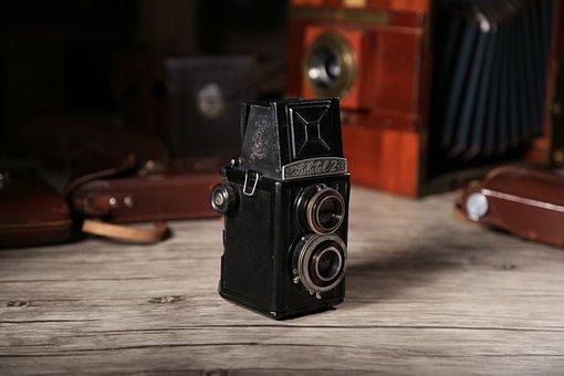 Old Dual Camera, Twin-lens Reflex Camera