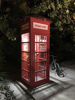 Phone Booth, Phone, Telephone, Vintage, Communication
