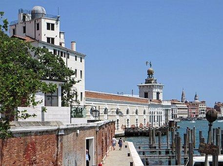 Italy, Venice, Zattere, Dogana, Wharf, Dorsoduro
