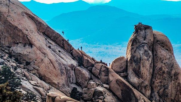 Ryan Mountain, Mountains, Zip Line, Climbing, Climbers